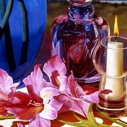Пазл онлайн: Натюрморт со свечой