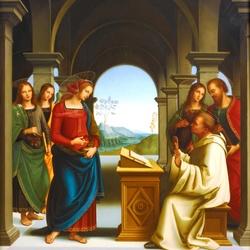 Пазл онлайн:  Видение Святого Бернарда