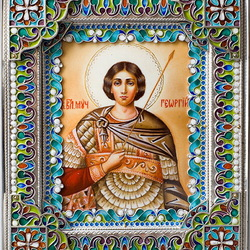 Пазл онлайн: Икона Георгия Победоносца