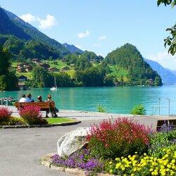 Пазл онлайн: Изельтвальд, озеро Бриенц