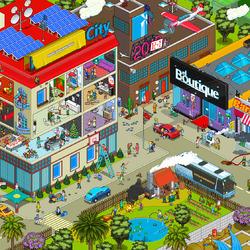 Пазл онлайн: Провинциальный городок