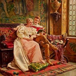 Пазл онлайн: Любовный роман