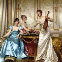 Пазл онлайн: Музыкальный вечер