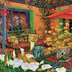 Пазл онлайн: Оранжевый дворик