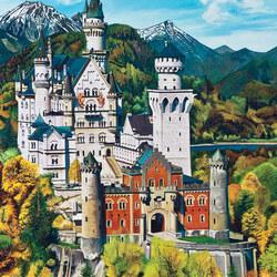 Пазл онлайн: Баварский замок