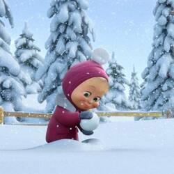 Пазл онлайн: Играем в снежки