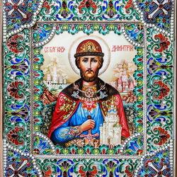 Пазл онлайн: Икона Дмитрия Донского