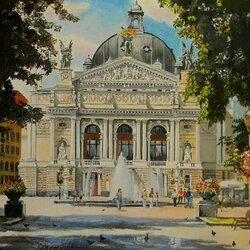 Пазл онлайн: Оперный театр. Львов