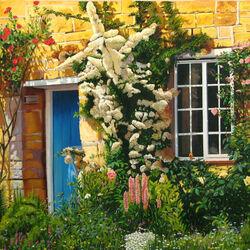 Пазл онлайн: Дом в цветах
