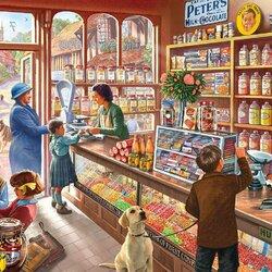 Пазл онлайн: Кондитерский магазин
