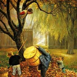 Пазл онлайн: Осенние хлопоты
