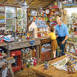 Пазл онлайн: Дедушкина мастерская