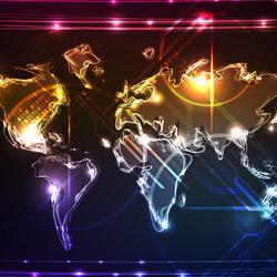 Пазл онлайн: Карта мира