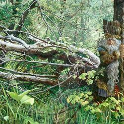 Пазл онлайн: Guardian In The Woods / Хранитель Леса