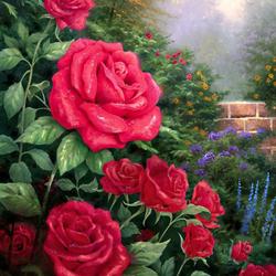Пазл онлайн: Красные розы