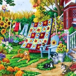 Пазл онлайн: Уютный дворик