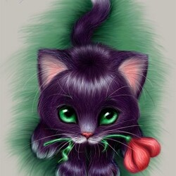 Пазл онлайн: Маленький котенок