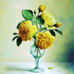 Пазл онлайн: Желтые розы