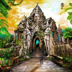 Пазл онлайн: Дорога к древнему храму