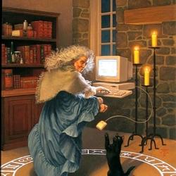 Пазл онлайн: Современная колдунья