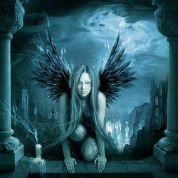 Пазл онлайн: Черный ангел