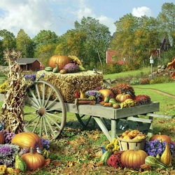 Пазл онлайн: Дары осени