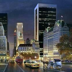 Пазл онлайн: Ночной Манхеттен