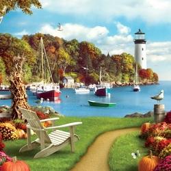 Пазл онлайн: Осенний полдень