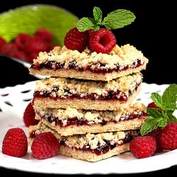 Пазл онлайн: Малиновый десерт