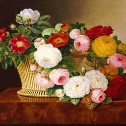 Пазл онлайн: Корзина роз