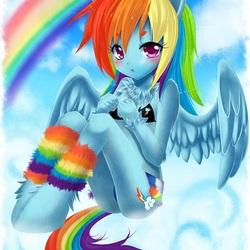 Пазл онлайн: Радужный пони