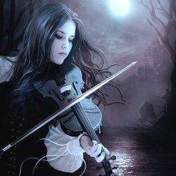 Пазл онлайн: Музыка ночи