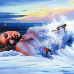 Пазл онлайн: В волнах