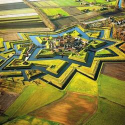 Пазл онлайн: Форт Буртанье (Bourtange), Нидерланды