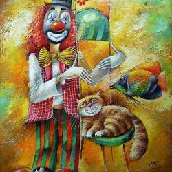 Пазл онлайн: Клоун