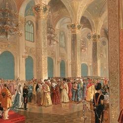 Пазл онлайн: Государь император принимает поздравления от представителей азиатских народов