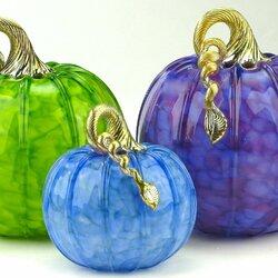 Пазл онлайн: Стеклянные тыквы