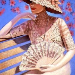 Пазл онлайн: Викторианская леди