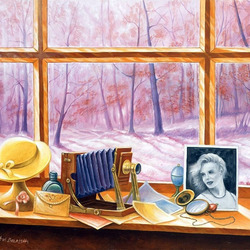 Пазл онлайн: Осень за окном
