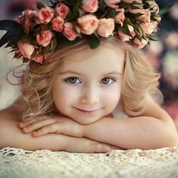 Пазл онлайн: Красавица с розами