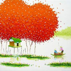 Пазл онлайн: Мастихиновая живопись