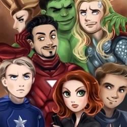 Пазл онлайн: Мстители