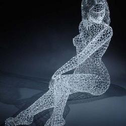 Пазл онлайн: Стеклянная скульптура