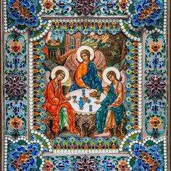Пазл онлайн: Икона Святая Троица