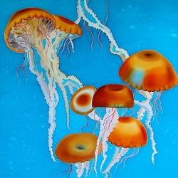 Пазл онлайн: Медузы
