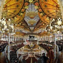 Пазл онлайн: Дворец Музыки. Гиперфотографии Жана Франсуа Розье