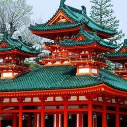 Пазл онлайн: Святыня Heian