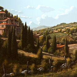 Пазл онлайн: Холмы Италии