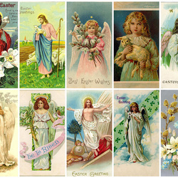 Пазл онлайн: Пасхальные открытки