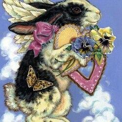 Пазл онлайн: Пушистый ангелочек
